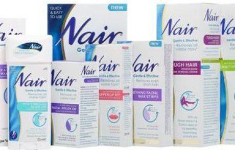 NAIR: סדרת מוצרים להסרת שיער מיותר