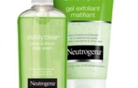 ניוטרוג'ינה: סדרה ירוקה (Pore & Shine) לניקוי עור הפנים