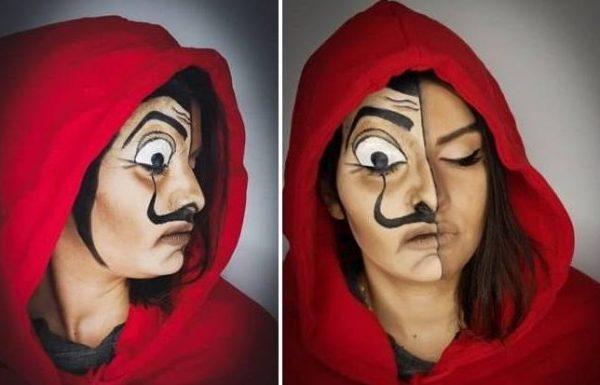 איפור למסכה של דאלי מהסדרה 'בית הנייר'